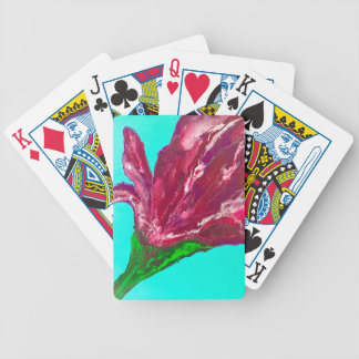 Pink Bloom Bicycle Playing Cards