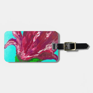 Pink Bloom Luggage Tag