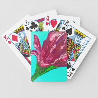Pink Bloom Poker Deck