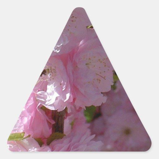 Pink Bloom Triangle Sticker