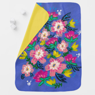 Pink Blooms Baby Blanket