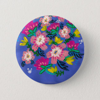 Pink Blooms Button
