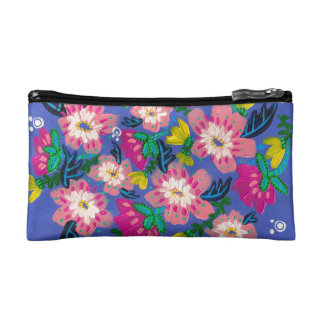 Pink Blooms Cosmetic Bag