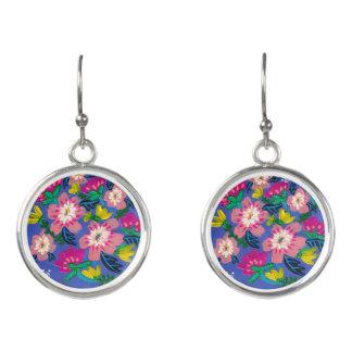 Pink Blooms Drop Earrings