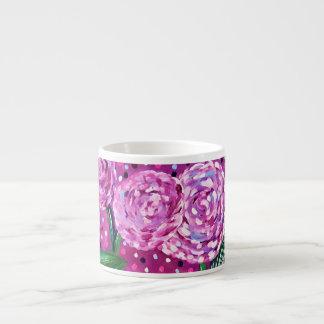 Pink Blooms Espresso Cup
