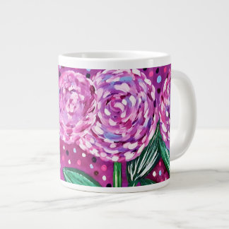 Pink Blooms Giant Coffee Mug