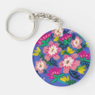 Pink Blooms Keychain