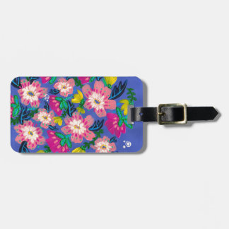 Pink Blooms Luggage Tag