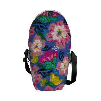 Pink Blooms Mini Messenger Bag