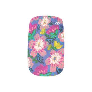Pink Blooms Nail Art