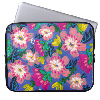 Pink Blooms Neoprene Laptop Sleeve