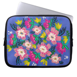 "Pink Blooms Neoprene Laptop Sleeve- 10"" Laptop Sleeve"