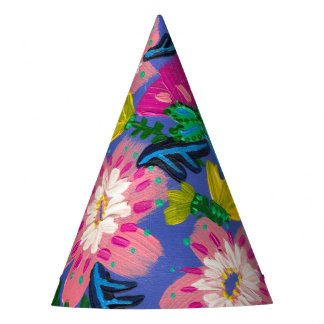 Pink Blooms Party Hat