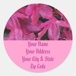 Pink Blooms Round Sticker