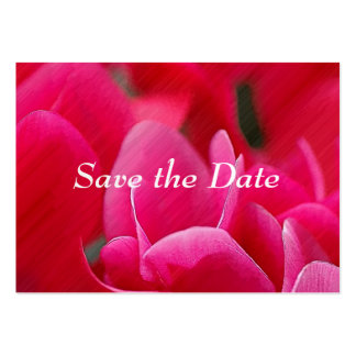 Pink Blooms Save the Date Cards Business Card Template