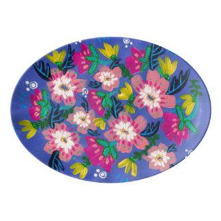 Pink Blooms Serving Platter