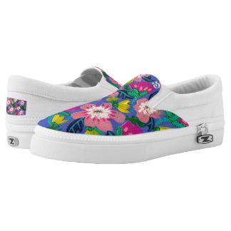 Pink Blooms Slip On Sneakers