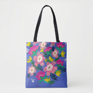 Pink Blooms Tote Bag