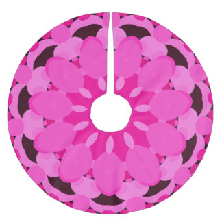 Pink Blossom Brushed Polyester Tree Skirt