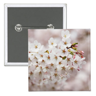 Pink Blossom Buds 15 Cm Square Badge
