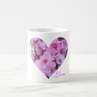 Pink Blossom Heart Coffee Mug