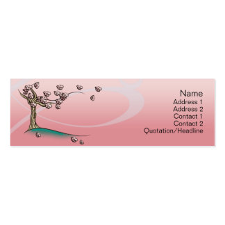 Pink  Blossom - Skinny Business Card Template