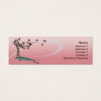 Pink  Blossom - Skinny Mini Business Card