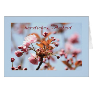 pink blossom sympathy card german