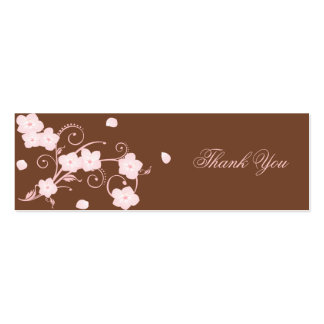 Pink Blossom Thank You Custom Card Pack Of Skinny Business Cards