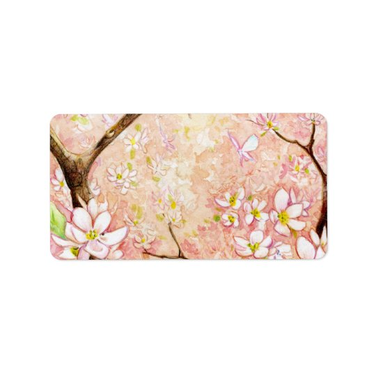Pink Blossom View Avery Label Address Label