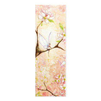Pink Blossom View Bookmark Business Card Template