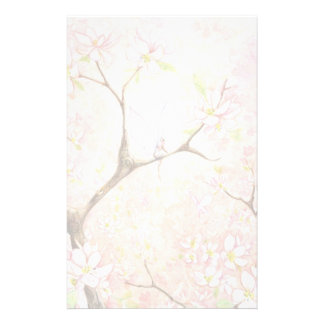 """Pink Blossom View"" Stationery"