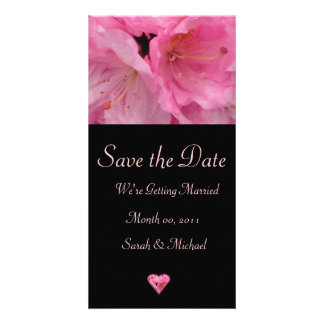 Pink Blossom Wedding Announcement Card Picture Card