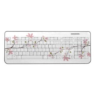 Pink Blossom Wireless Keyboard