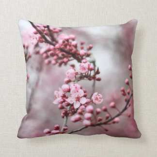 Pink Blossoms in Spring Photo Cushion