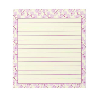 Pink blossoms notepad