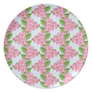 Pink Blossoms Party Plate