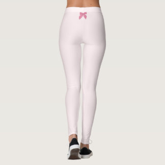 Pink Blow accent Light Pink Leggings