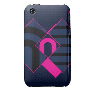 Pink Blue Abstract iPhone 3 Cases