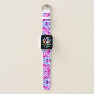 Pink blue and purple mandala apple watch band