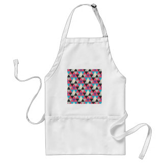 Pink Blue and White Triangle Pattern Standard Apron