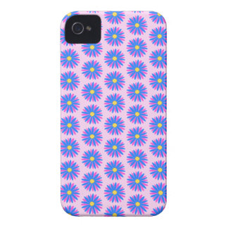 Pink, Blue and Yellow Flower Pattern. iPhone 4 Covers