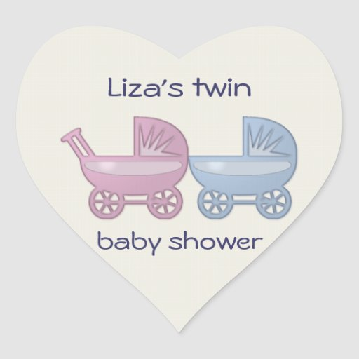 pink & blue baby buggy stickers