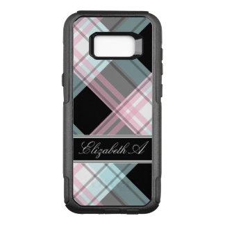 Pink Blue Black Plaid Samsung Galaxy S8 Case