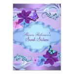 Pink & Blue Butterfly Garden Sweet 16 Invite 13 Cm X 18 Cm Invitation Card