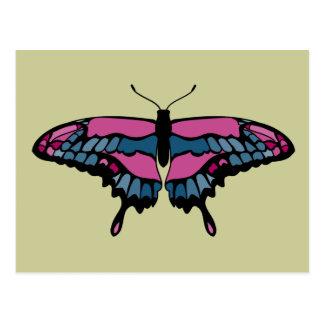 Pink & Blue Butterfly Postcard
