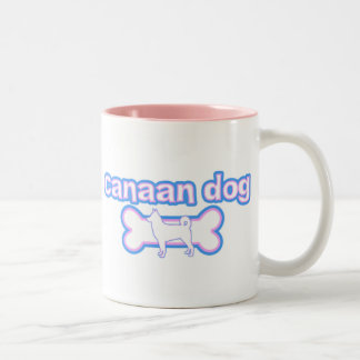 Pink & Blue Canaan Dog Mug