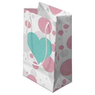 Pink & Blue Celebration Polka Dot Party Gift Bag