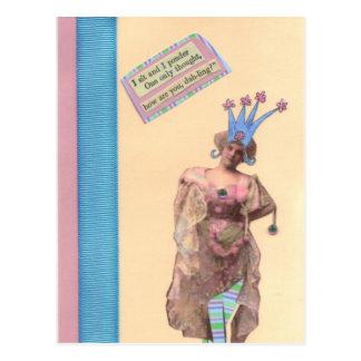 Pink & Blue Dah-ling Postcard