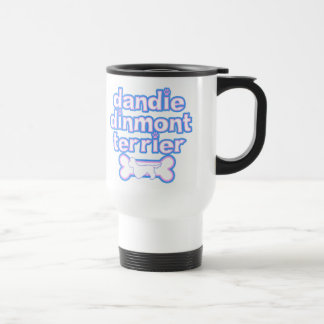 Pink & Blue Dandie Dinmont Terrier Travel Mug